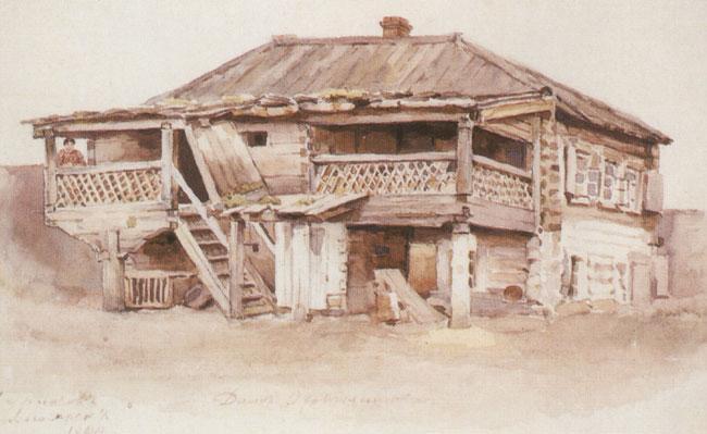 Okhotnikov's house in Krasnoyarsk - Vasily Surikov