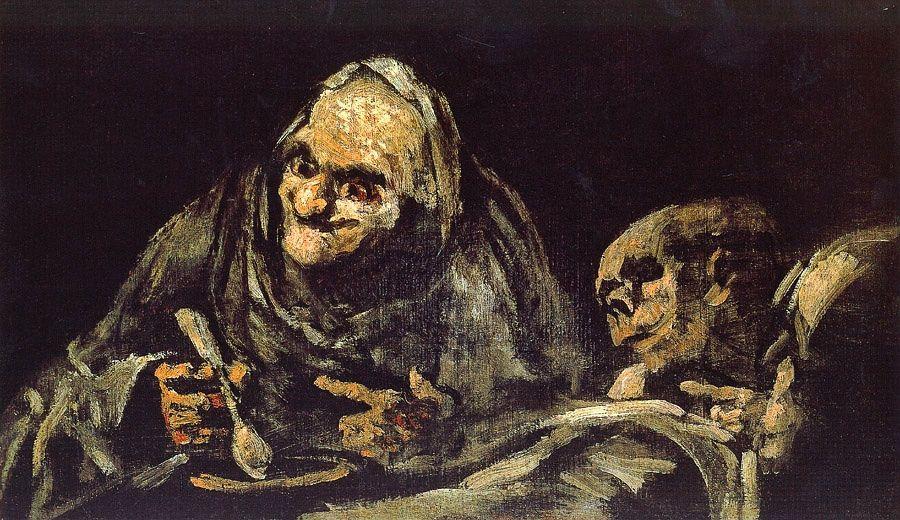 Old eating soup - Francisco Goya