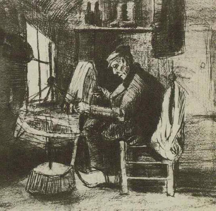 Old Man Reeling Yarn - Vincent van Gogh