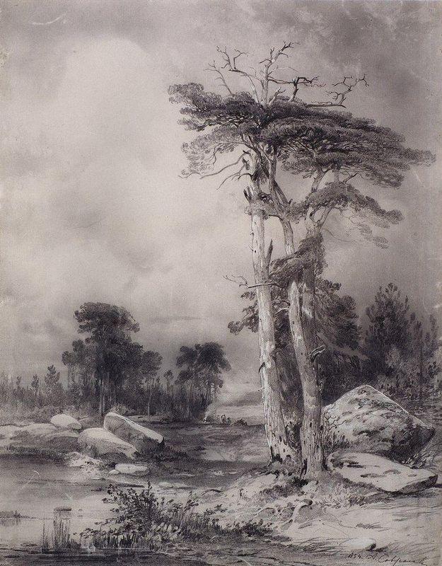 Old pine - Aleksey Savrasov