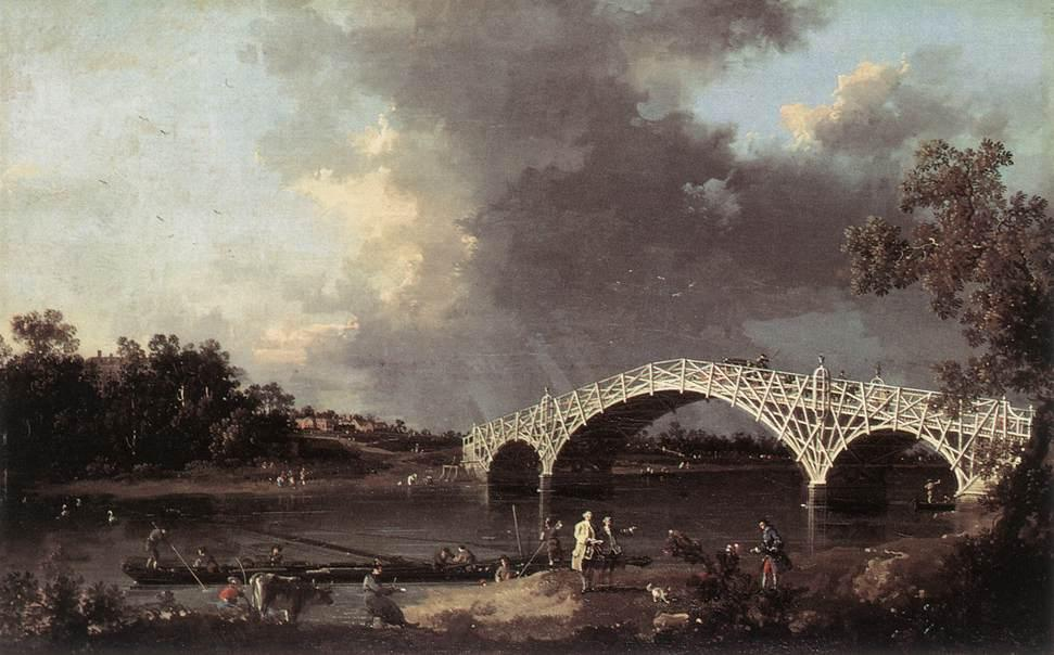 Old Walton Bridge over the Thames - Canaletto