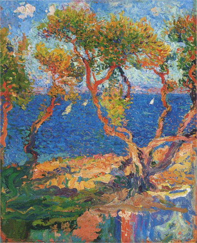 Olive Trees by the Sea - Henri Martin