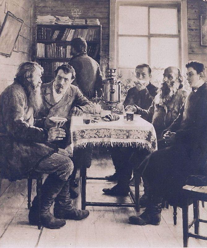 On a Visit to the Teacher - Nikolay Bogdanov-Belsky