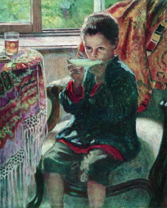 On a Visit  - Nikolay Bogdanov-Belsky