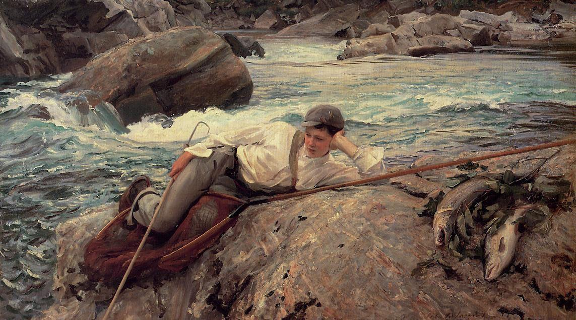 On His Holidays, Norway  - John Singer Sargent