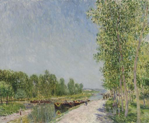 On the Banks of the Loing Canal - Alfred Sisley