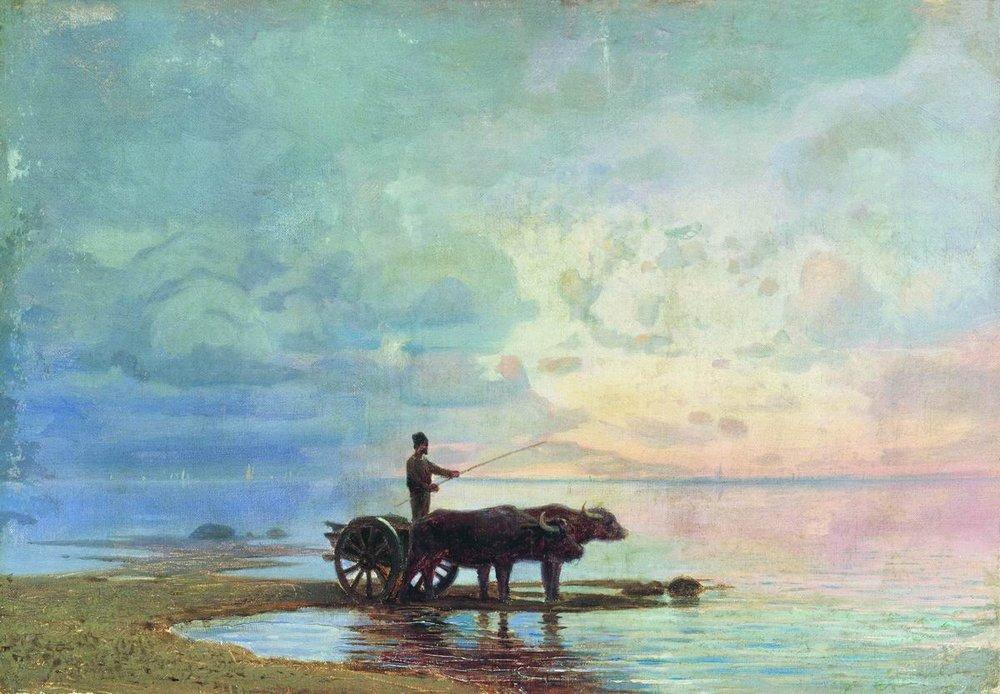 On the Beach - Fyodor Vasilyev