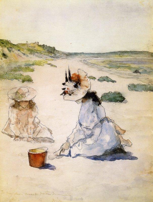 On the Beach, Shinnecock - William Merritt Chase