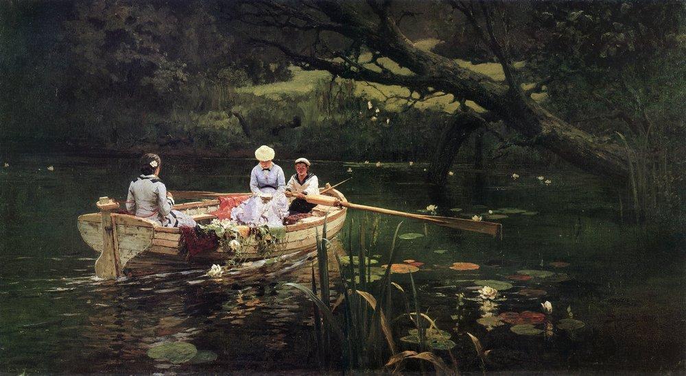 On the boat. Abramtsevo. - Vasily Polenov