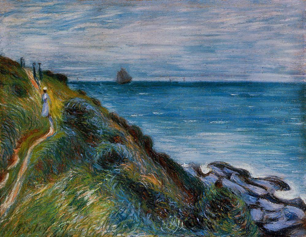 On the Cliffs, Langland Bay, Wales - Alfred Sisley