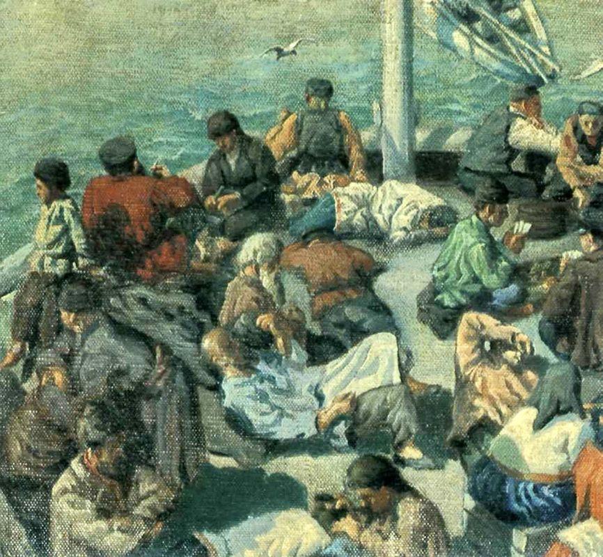 On the Ferry - Nikolay Bogdanov-Belsky