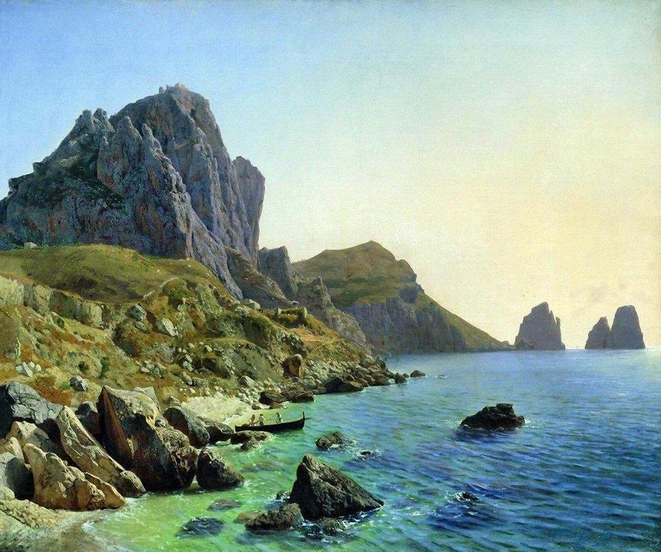 On the island of Capri. Coastal cliffs. - Lev Lagorio