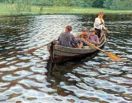 On the Lake - Nikolay Bogdanov-Belsky