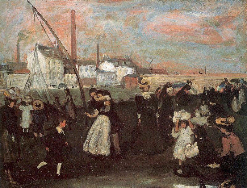 On the quai - William James Glackens