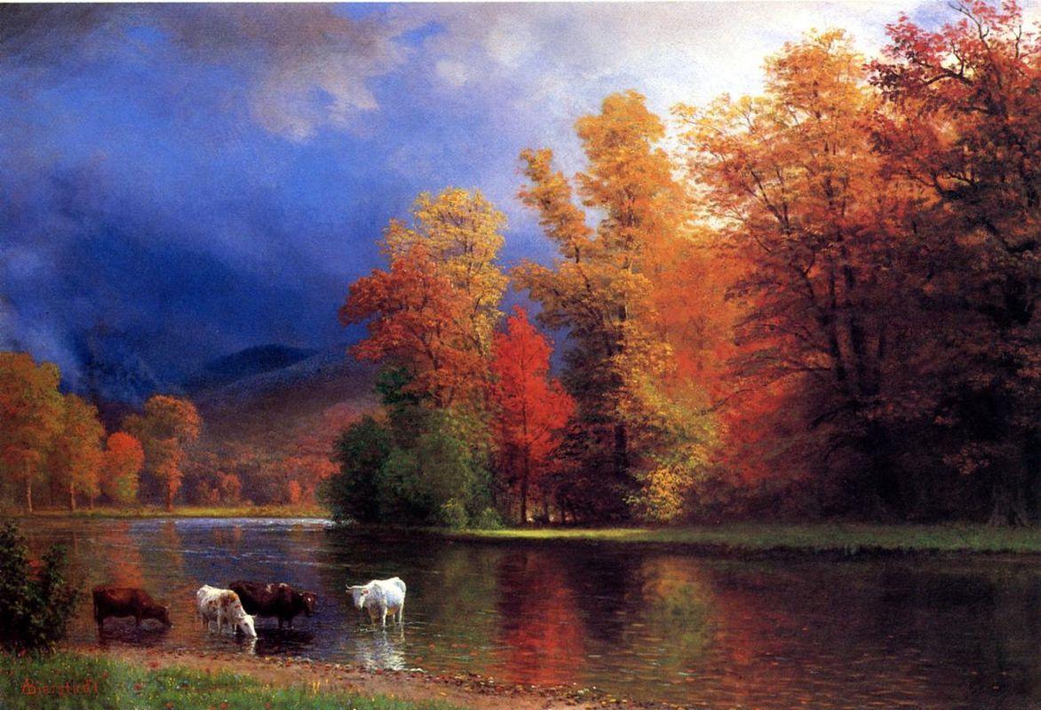 On the Saco - Albert Bierstadt