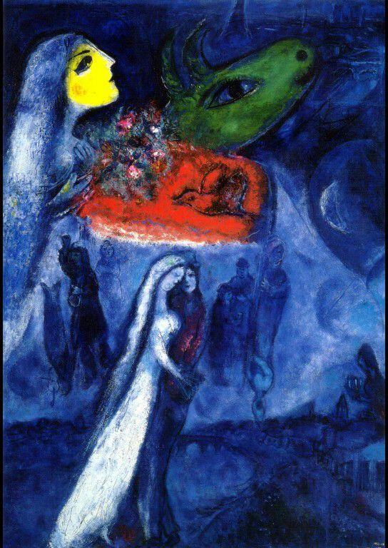On Two Banks - Marc Chagall