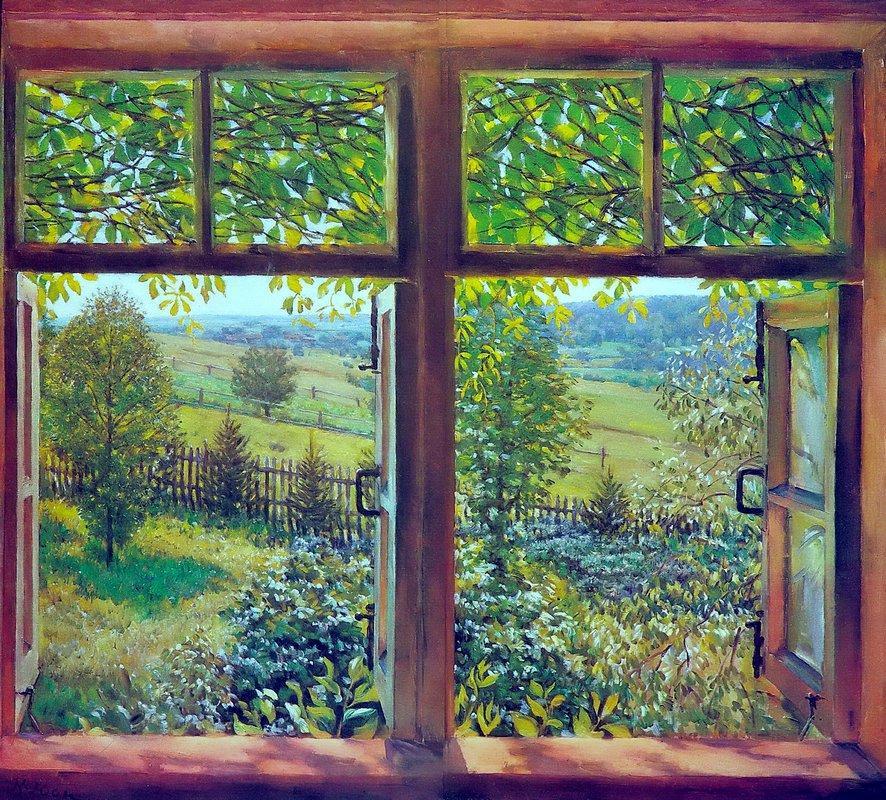 Open Window. Ligachevo - Konstantin Yuon