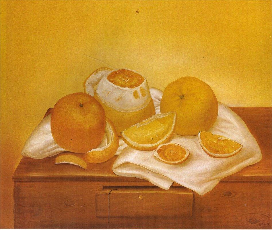 Oranges - Fernando Botero