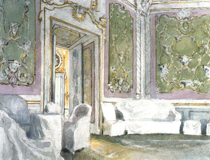 Oranienbaum. The Monkey Cabinet  in Roller Coaster hall - Alexandre Benois