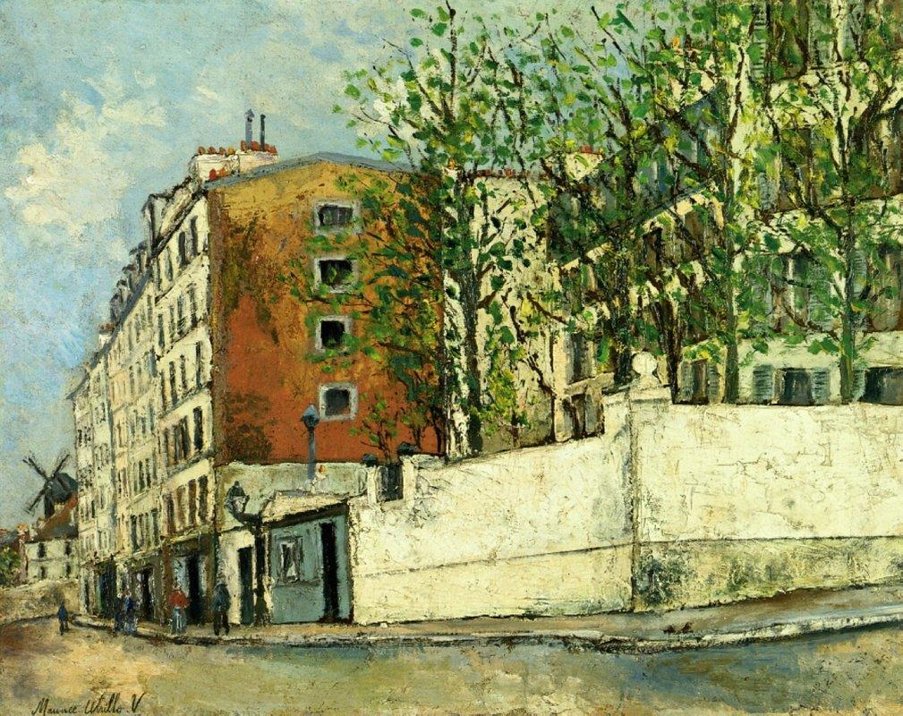 Orchampt street near Montmartre - Maurice Utrillo