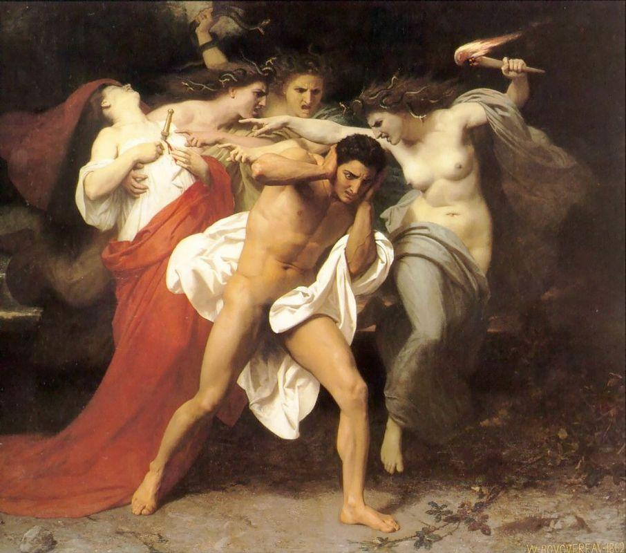 Orestes Pursued by the Furies - William-Adolphe Bouguereau