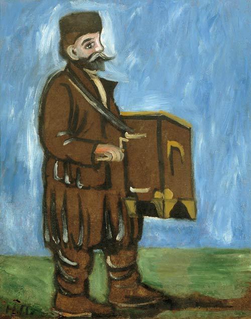 Organ grinder - Niko Pirosmani