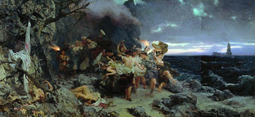 Orgy of the Times of Tiberius on Capri - Henryk Siemiradzki