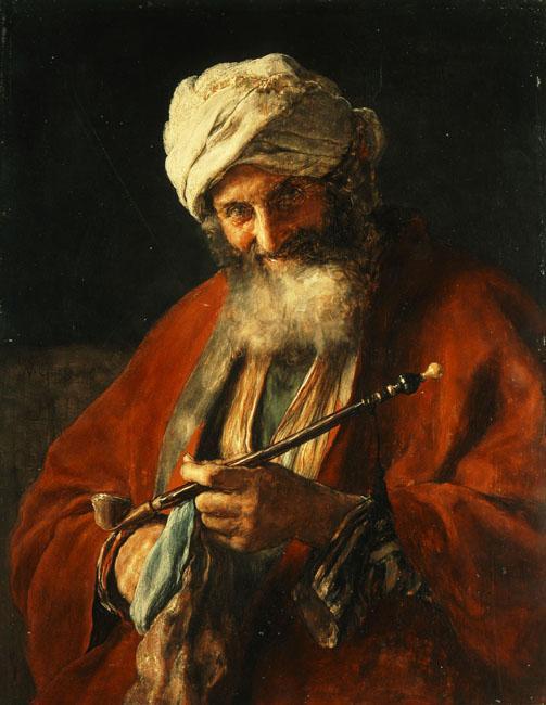 Oriental Man with a Pipe - Nikolaos Gyzis