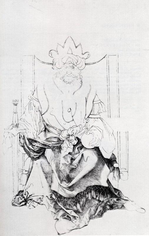 Oriental Ruler Enthroned - Albrecht Durer