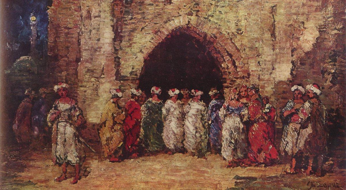Oriental scene - Adolphe Joseph Thomas Monticelli