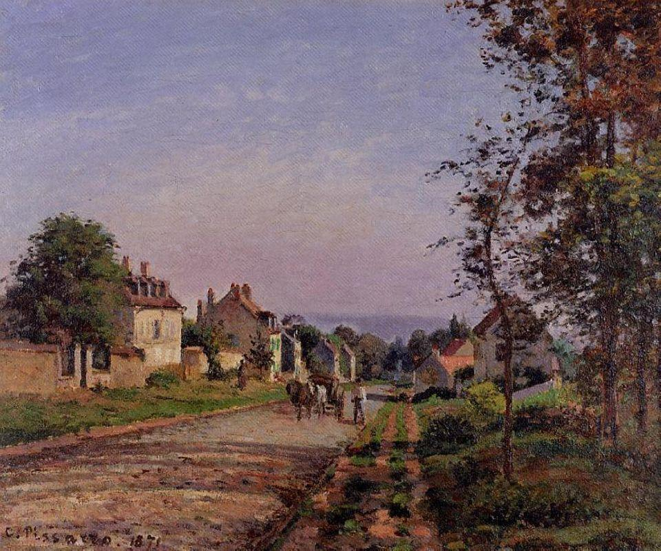 Outskirts of Louveciennes - Camille Pissarro