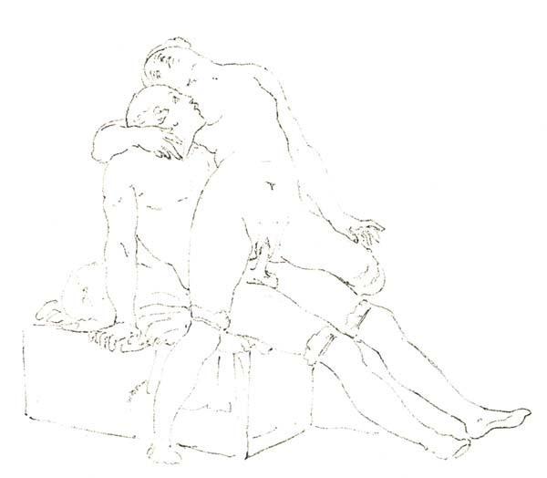 Overlapping wife back position on the swing - Francesco Hayez