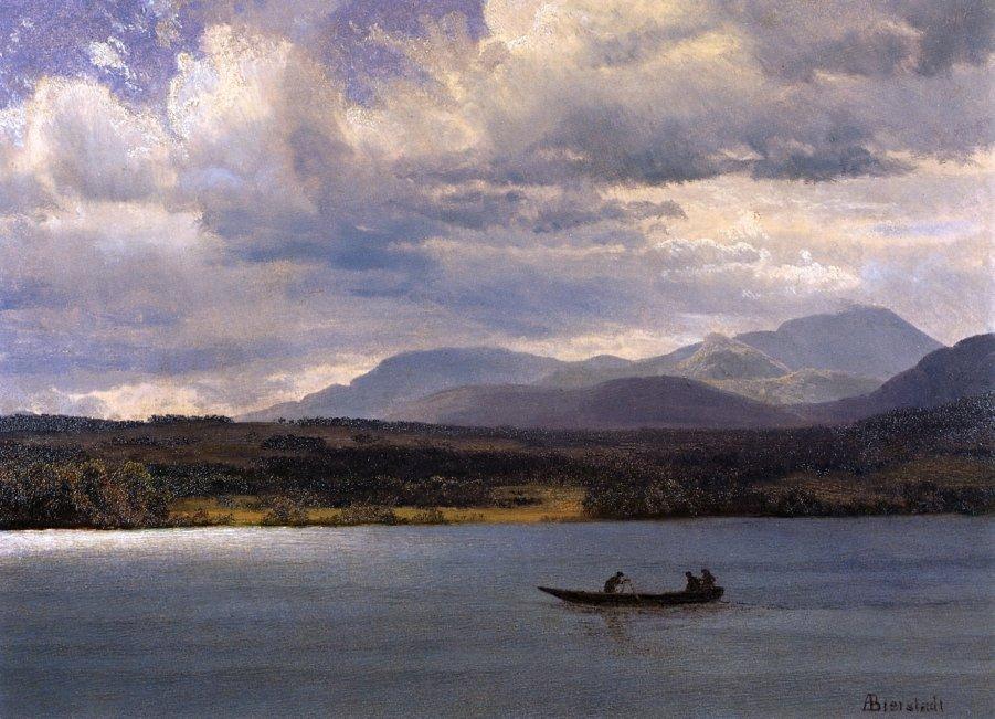 Overlook Mountain from Olana - Albert Bierstadt