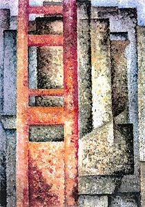Painting (Deployment-intersection) - Amadeo de Souza-Cardoso