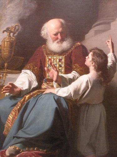 Painting of Samuel learning from Eli - John Singleton Copley