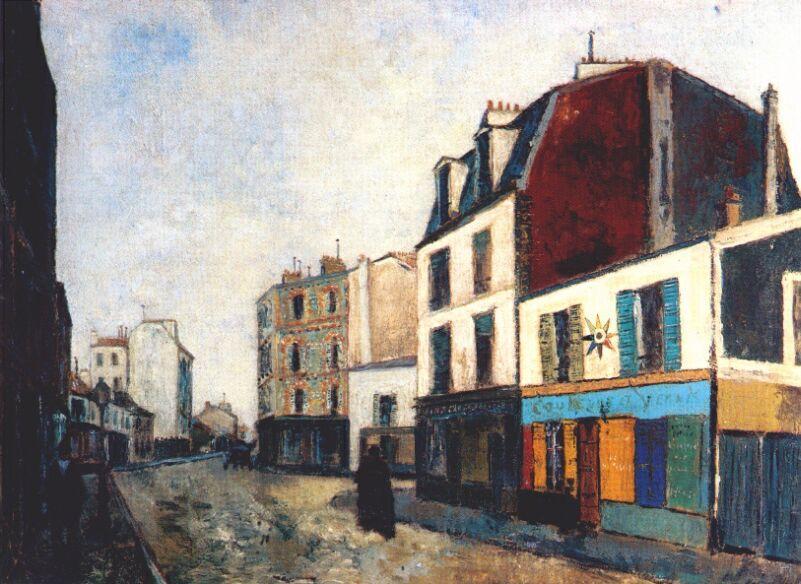 Paintshop at Saint Ouen  - Maurice Utrillo