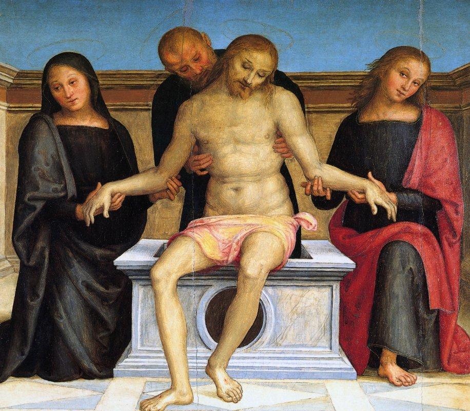 Pala di Sant Agostino (Pieta) - Pietro Perugino