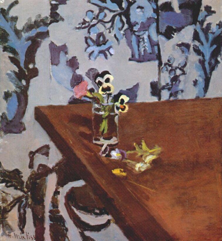 Pansies on a Table - Henri Matisse
