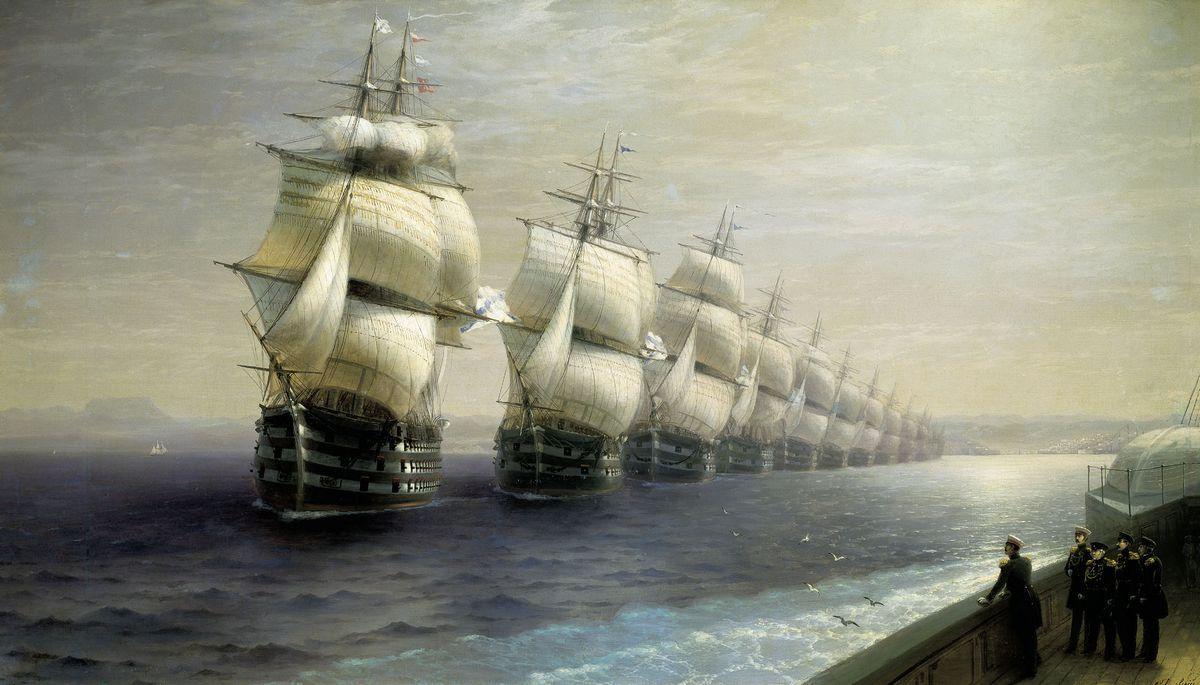 Parade of the Black Sea Fleet - Ivan Aivazovsky