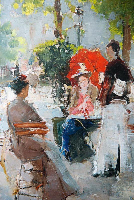 Paris cafe (fragment) - Konstantin Korovin