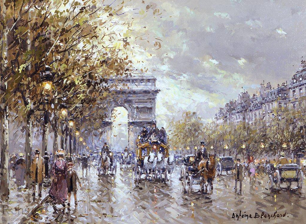 Paris l'Arc de Triomphe - Antoine Blanchard