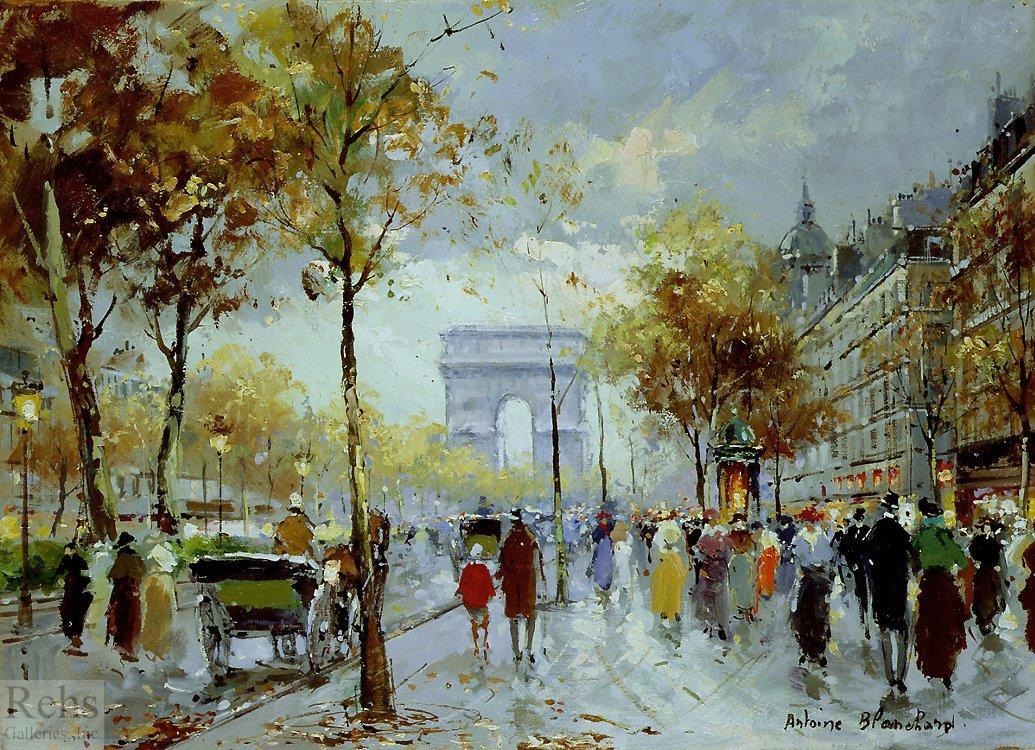 Paris, les Champs Elysees - Antoine Blanchard