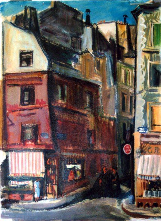 Paris. Mouffetard Street - Iosif Iser