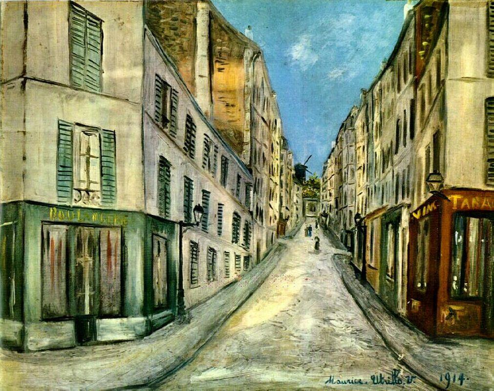 Paris Street - Maurice Utrillo
