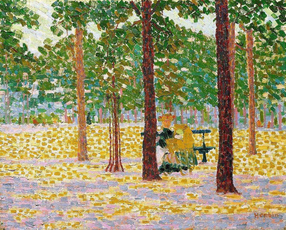 Park in Paris - Auguste Herbin