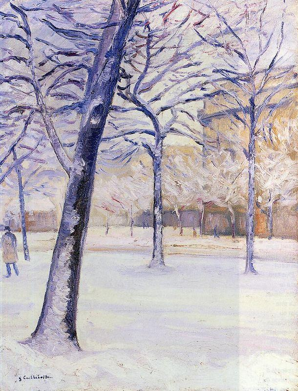 Park in the Snow - Gustave Caillebotte