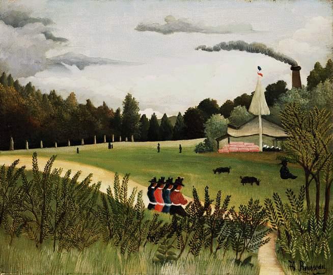 Park with Figures - Henri Rousseau