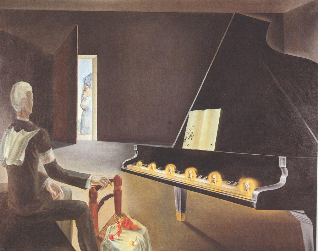 Partial Hallucination: Six Apparitions of Lenin on a Piano - Salvador Dali