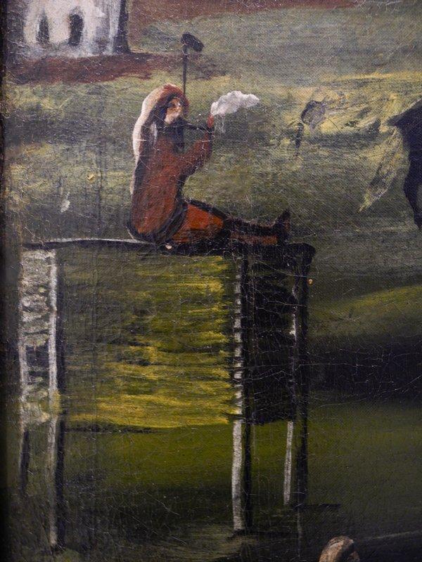 Party by the River Tskheniszkali (fragment) - Niko Pirosmani