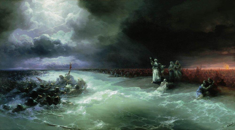 Passage of the Jews through the Red Sea - Ivan Aivazovsky